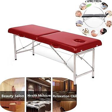Table de massage pliante portable et esthétique pour spa, tatouage, table de massage, table de salon de beauté, table de mass