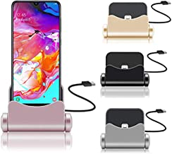 (Silver) 360 Rotating USB Charger Stand Charging Station [Fast Charge] Durable Dock station For Asus ZenFone 4 Selfie ZB553KL