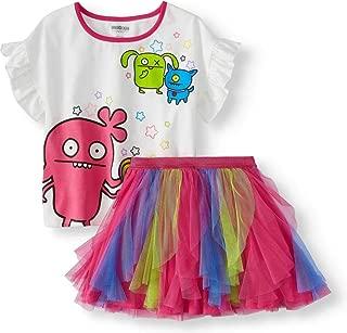 Ugly Dolls Girls Tutu Skirt and Shirt Clothing Set