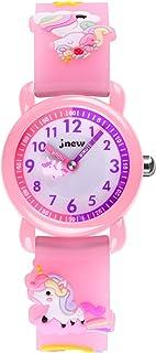 Kids Watches 3D Cute Cartoon Pink Unicorn Waterproof Silicone Children Toddler Wrist Watch for 3-10 Year Girls Little Child-Best Gift