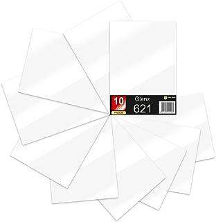 Lot de 10 feuilles de papier de traceur 621/631 - Format A4 - En vinyle - 29,7 x 21 cm - Blanc mat