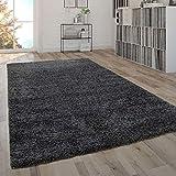 Paco Home Shaggy Teppich Hochflor Flauschig Wohnzimmer Uni In Versch.