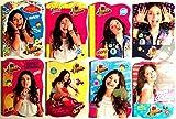 Soy Luna lot de 2 carnets A6 bloc notes avec des pages décorées Idée Cadeau Disney Modelés aléatoires