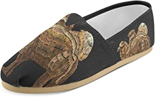 Artsadd Fashion Women's Loafers Anchor Flower Classic Casual Slip-on Canvas Shoes Sneakers Flats