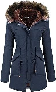 iClosam Women Hooded Warm Long Coats Faux Fur Lined Parka Anroaks Outdoor Jackets