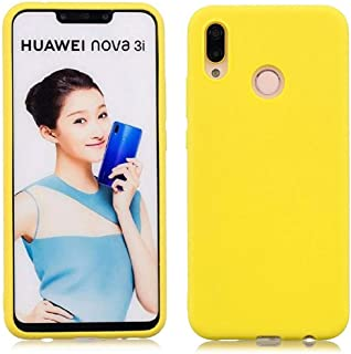 Mobile protection Cover, Flexible Plastic, Matte color Case for Huawei Nova 3i (Yellow)