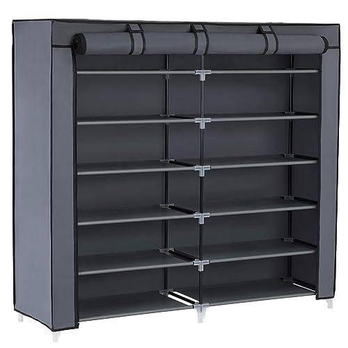SONGMICS 7-Tier Shoe Rack 36-Pair Portable Shoe Storage Cabinet Organizer  with Fabric d02b85a352b0