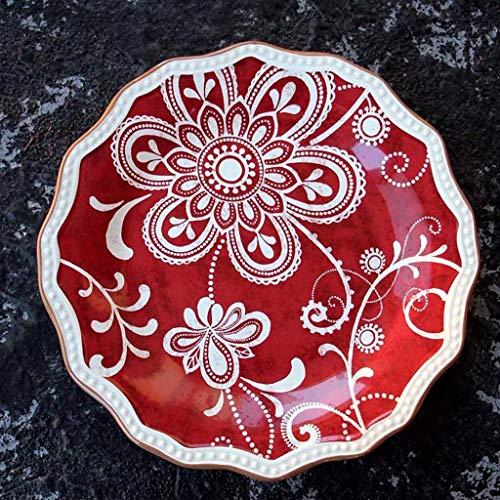 NO BRAND Inicio vajilla 8.26in Placa de cerámica Francesa de la cuchillería por el Restaurante de Cocina Occidental Filete Fruta de Postre Pastel de Placa Placa de Ensalada