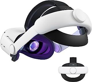 KIWI design Cinturino Elite Regolabile per Oculus Quest 2 Ridurre la Pressione della Testa Comodo