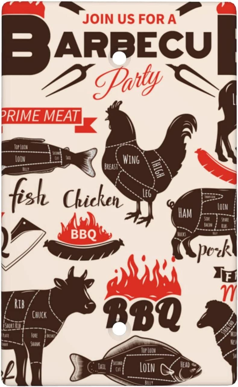 Bbq Retro Animal Blank Cover Wall Super special price 2.76 Plate X Ranking TOP6 4.5 Size Standard