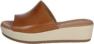 Valleverde Scarpe Ciabatte Donna Pantofole in Pelle Marrone 34221-CUOIO