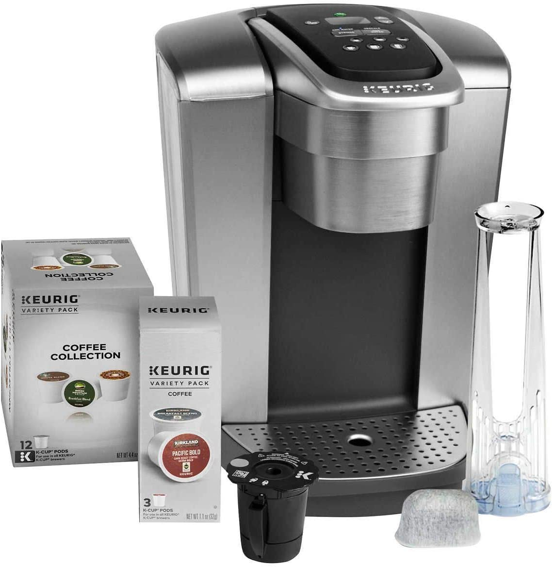 Amazon Com Keurig Fil K Elite C Single Serve Coffee Maker Brushed Silver With 15 Water Filter And My K Cup 2 Kitchen Dining