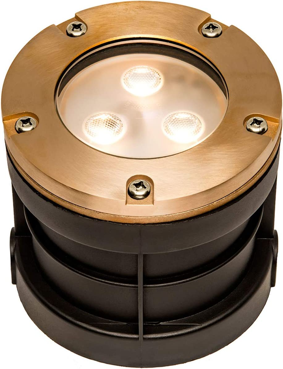 12V Max 71% OFF 6W Fees free Cast Brass Integrated LED In Diame Ground Well - 5