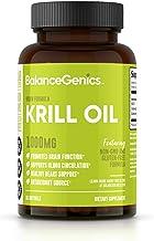 BalanceGenics Krill Oil (1000mg) | Omega-3 EPA, DHA, Contains Naturally Occurring Astaxanthin Antioxidant, Promotes Optima...