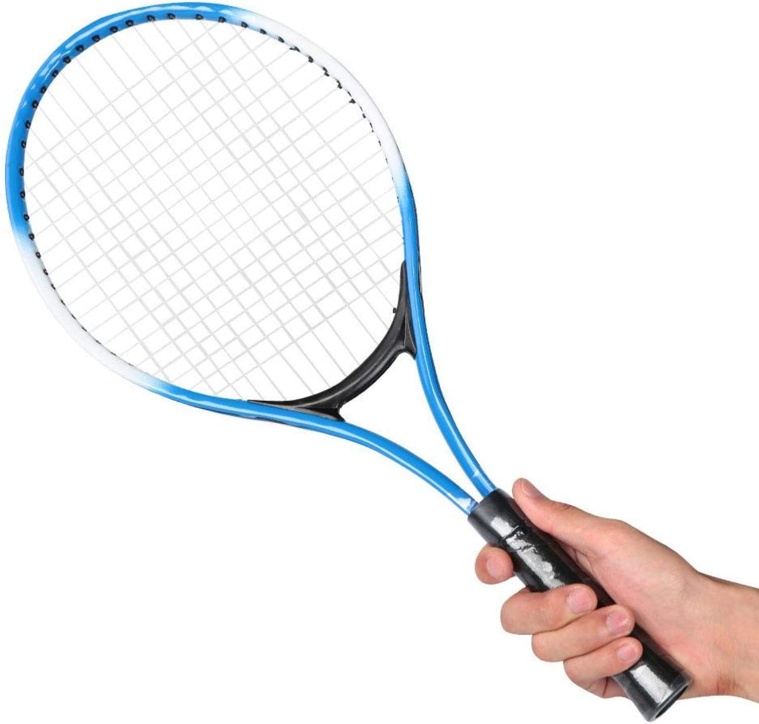 Children Tennis Racket Iron Alloy Beginner Tennis Racquet Sports Accessory with Ball and Carry Bag