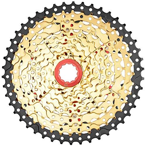 Casete de Bicicleta de 9 Velocidades 11-46T, Volante de Bicicleta de MontañA de RelacióN Amplia, Accesorio de Repuesto para Bicicleta, Apto para Sram, Shimano, Bicicleta de MontañA, BMX