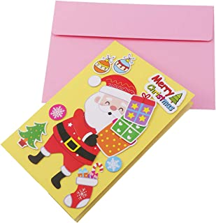 STOBOK Bolsa de Material de artesanía Hecha a Mano para Tarjetas de felicitación de Navidad.