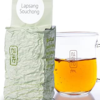 Rare Roasted & Pine Smoked Chinese Black Tea (50 cups/3.5oz) | Nigiro Lapsang Souchong (3.5oz) | High Caffeine | Unique Loose Tea Leaf Selection