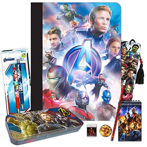 Marvel Avengers School Supplies Value Pack ~ 7 Pcs (Folders, Notebook, Pencils, Pen, and More)