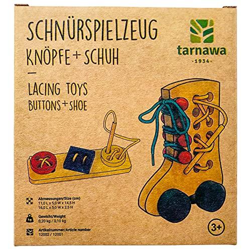 Tarnawa Montessori Juguetes de madera para bebé, regalo cumpleaños novia y niño a partir 3 años, juguetes motricidad sostenibles juego aprendizaje, kit costura niños, artesanía,
