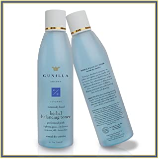 GUNILLA Herbal Toner 6.7oz Spa-Grade   10-Herbal Extracts, Cleanse, Hydrate, Detox, Balance pH, Skin Prep   65% Organic He...