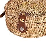 Miyanuby Damen Umhängetasche Rattan Handgemachte Vintage Tasche Handtaschen für Frauen Travel Strandtasche Sommer Umhängetasche - 4