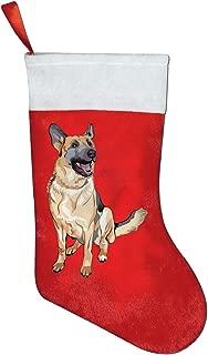 SESHIERDA Christmas Cute Stockings German Shepherd Dog Santa Socks for Xmas Costume Decoration