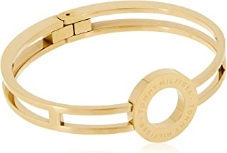 Tommy Hilfiger Women'S Gold Ionic Gold Plated Steel Bangle Bracelets -2780315