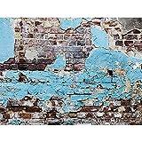 Focos de Vinilo Accesorios de Fondo de fotografía de Pared de ladrillo Fondo de Estudio Retro Accesorios de fotografía Cortina A6 9x6ft / 2,7x1,8 m