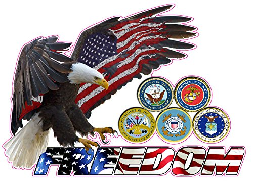 American Eagle Freedom Armed Forces Large Decal 12'X 8' from The United States
