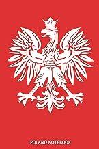 Poland Notebook: Polen Reise Logbuch | Polska Herb Notizbuch | Warsaw | Tagebuch Polnisch Flagge Journal - DIN A5 Kariert 110 Seiten Notizblock