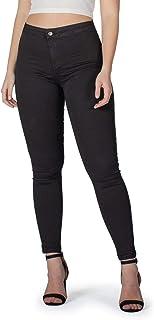 Jeggings de Cintura Alta para Mujer, Jeans Cómodos en Algodón Ultra Elástico, Corte Ajustado - Made in Italy