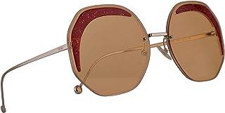 نظارة شمسية من فيندي FF0358/S عدسة صفراء / برتقالية 63 ملم 40GW7 FF0358S FF 0358/S