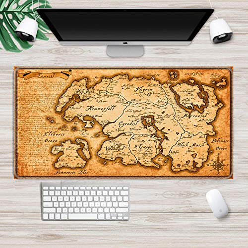 Gaming Mouse pad Skyrim Gaming Mouse pad Hd Pattern Gaming Mouse Pad Accessories Fashion Laptop Padmouse Ergonomic Mat B L(30x70cm)