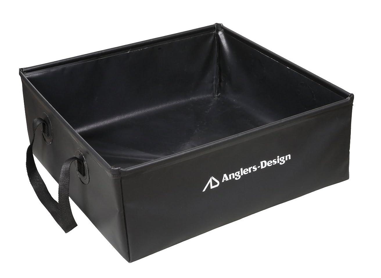 プール命題どんよりしたアングラーズデザイン(Anglers Design) フォールディングバッグ ADB-26 ブラック W50*H18*D50cm