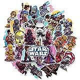 CHUDU Pegatinas de Star Wars, Impermeable, PVC, portátil, Guitarra, monopatín, papelería, Equipaje, Casco, calcomanía, Juguete para niños, 50 Uds.