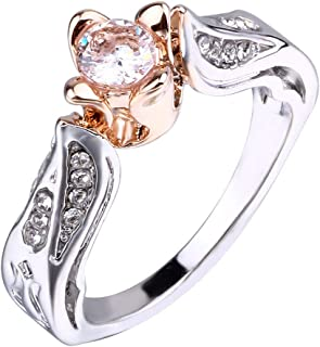 Boyfriend Tronet Wedding Rings for WomenExquisite Fashion 26 English Alphabet Style Ring Letter Fashion Copper RingGift for a Girlfriend Family
