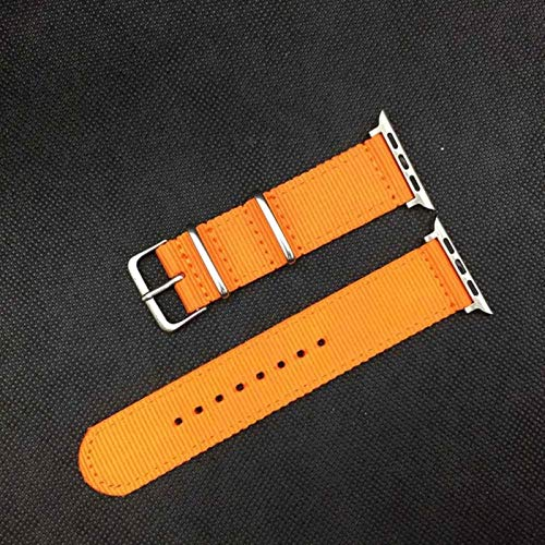 Correa de reloj de nailon para Apple Watch Band Series 6/5/4/3/2/1 Pulsera de reloj tejida deportiva 42 Mm 38 Mm 40Mm 44Mm Correa para Iwatch Band