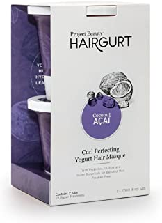 Hairgurt Curl Perfecting Deep Conditioner Yogurt Hair Mask for Curly, Dry and Damaged Hair; Sulfate Free