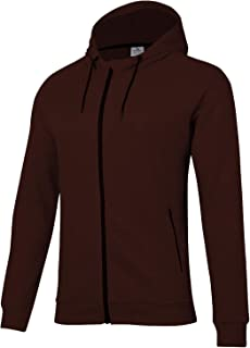 BEROY Hoodies for Men Full Zip Basic Athletic Training Running Gym Workout Hooded Sweatshirt with 2 Zipper Pockets