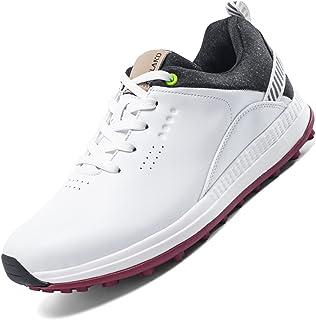 THSAYOO أحذية الجولف للرجال مقاومة للماء أحذية جولف مريحة للتنفس أحذية جولف أحذية رجالية رياضية جولف المشي أحذية سوداء