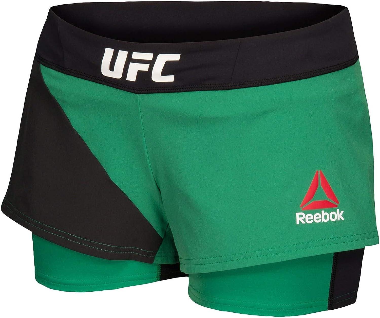 Reebok UFC Crossfit Women& 39;s Green Octagon Speedwick Performance Shorts