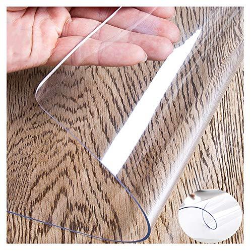 Tischdecken XJJUN Transparente Tischdecke PVC Stuhlkissen Tischset Filet Wasserdicht Ölbeständig Dauerhaft Anpassbar (Color : 1mm, Size : 85x140CM)