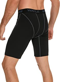 Wayleb Pantalones Cortos Deportivos Hombre Compresion Leggings Mallas Running Hombre Verano Pantalón Corto Chandal de Depo...