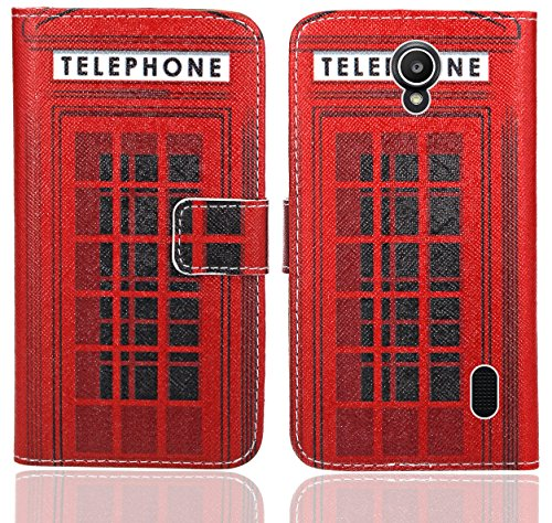 Huawei Y635 Handy Tasche, FoneExpert® Wallet Hülle Flip Cover Hüllen Etui Ledertasche Lederhülle Premium Schutzhülle für Huawei Y635 (Pattern 12)
