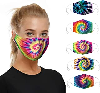 Aadiju 5pc Mouth Masks for Dust Protection Anti Face Mask Washable Earloop Mask