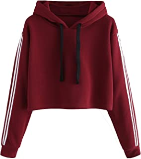 Fabricorn 2 Stripes on Sleeve Sweatshirt Hoodie for Women