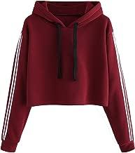 Fabricorn Plain Maroon Sweatshirt Hoodie for Women (Maroon)
