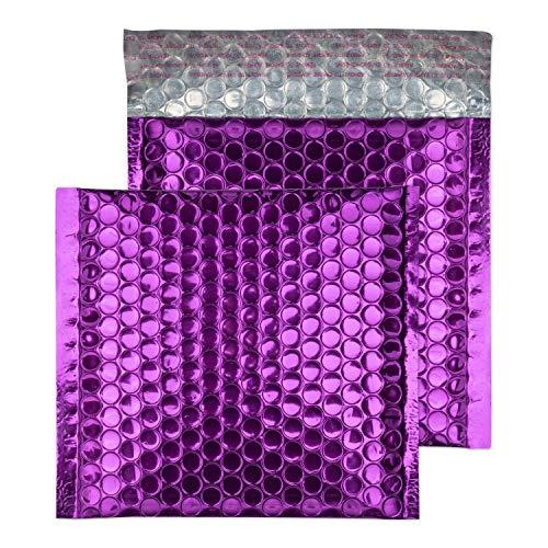 Purely Packaging-Contenitore per CD, 165 x 165 mm-Buste imbottite con chiusura adesiva, colore: viola uva (confezione da 100)