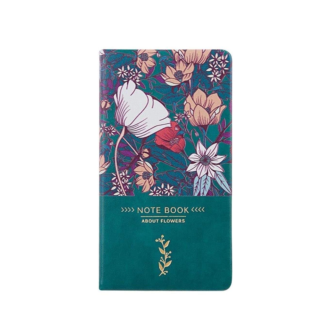 ノート 罫線付きノートブック、ジャーナル、パスコード付きのメモ帳日記の書き方PUレザーハードカバー並ぶ日記3.7'x7.0 ' メモ帳 ノート (Color : Green)